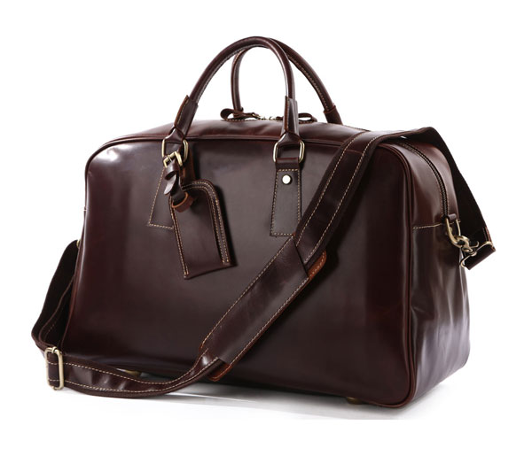 7156B Classic Leather Travel Bags Men's Business Travel Bag Big Size Trip Bag