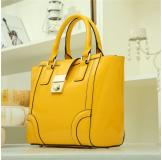 3140D 100% Real Leather Yellow Shoulder Bag Shopping Bag Handbag