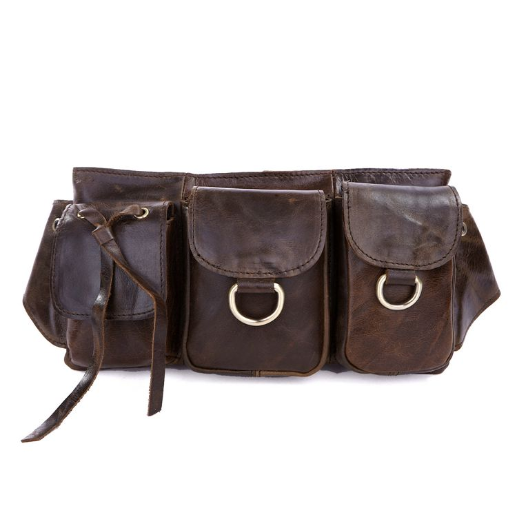 3014R-3 Vintage Leather New Fashion Unisex Waist Bag Fanny Pack Purse Tote Comfortable