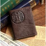 8010-2C 100% Real Genuine Leather Purse Wallet Card Holder