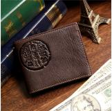 8010-3C 100% Real Genuine Leather Purse Wallet Card Holder