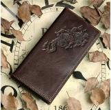 8012-1C 100% Real Genuine Leather Purse Wallet Card Holder