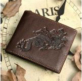 8012-3C 100% Real Genuine Leather Purse Wallet Card Holder