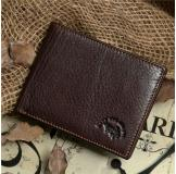 8014-3C 100% Real Genuine Leather Purse Wallet Card Holder