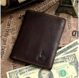 8015-2C 100% Real Genuine Leather Purse Wallet Card Holder