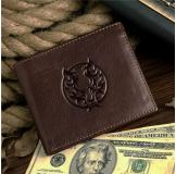 8017-3C 100% Real Genuine Leather Purse Wallet Card Holder