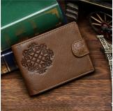 8018C 100% Real Genuine Leather Purse Wallet Card Holder