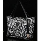 3162TT White&black Real Leather Shoulder Bag Shopping Bag Handbag