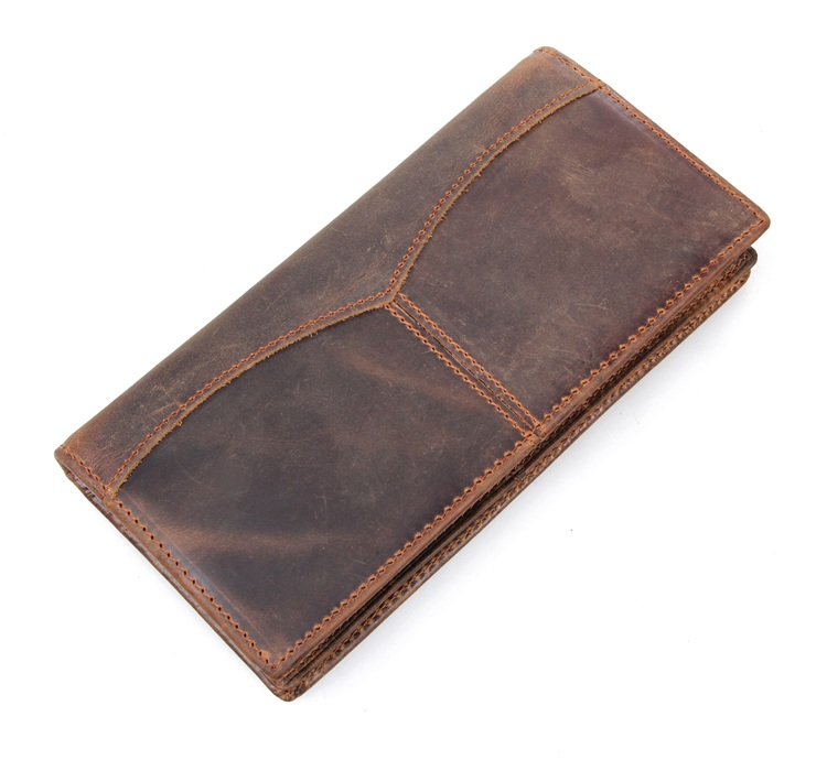 8059R 100% Real Genuine Leather Wallet Card Holder