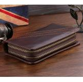 8020C Classic Coffee Vintage Leather Mini Wallet Purse Key Case Men's Hand Bag