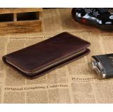 8022C Classic Coffee Vintage Leather Mini Wallet Purse Key Case Men's Hand bag