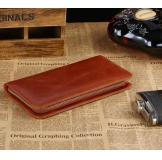 8022B Classic Brown Vintage Leather Mini Wallet Purse Key Case Men's Hand Bag