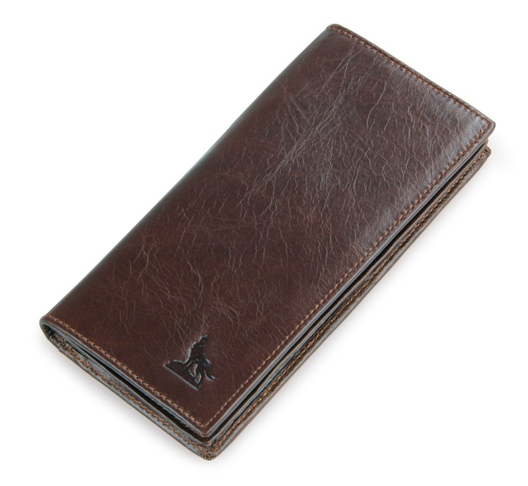8011-1Q 100% Genuine Leather Men's Coffee Wallet Business Credit Card Holder Coin ID Purse