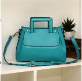 3146K Blue Leather Shoulder Bag Shopping Bag Handbag