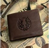 8013-3C 100% Real Genuine Leather Purse Wallet Card Holder