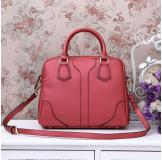 3158H Dark Red Leather Shoulder Bag Shopping Bag Handbag