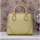 3158D Yellow Leather Shoulder Bag Shoppping Bag Handbag