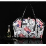 3165T White Real Leather Shoulder Bag Shopping Bag Handbag