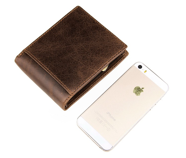 8054B J.M.D Genuine Vintage Leather Card Holder Wallet Billfold