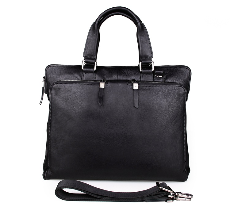 7294A Real Cow Leather Trend Handbag Laptop Briefcase for Men