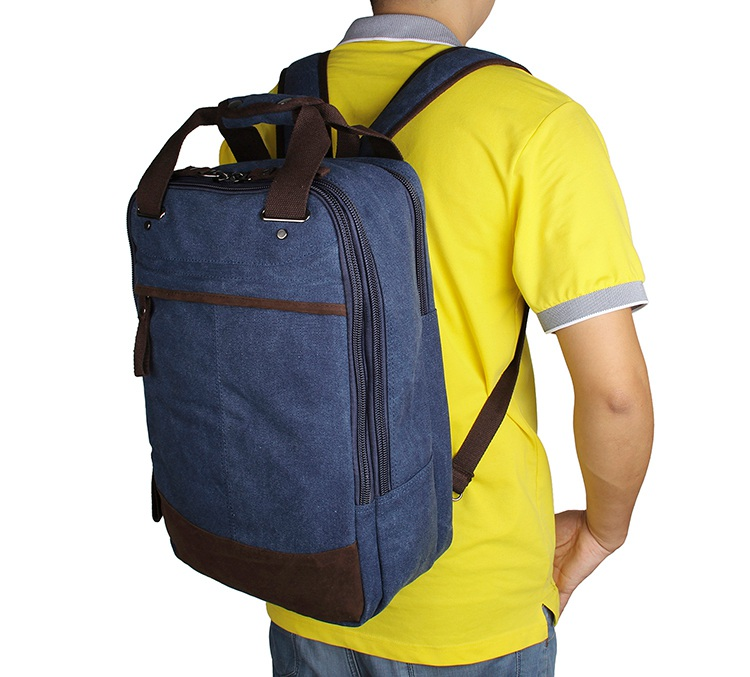 9028K JMD Brand Blue Popular Top Quality Large Capacity Mens Canvas Backpack America Canvas Laptop