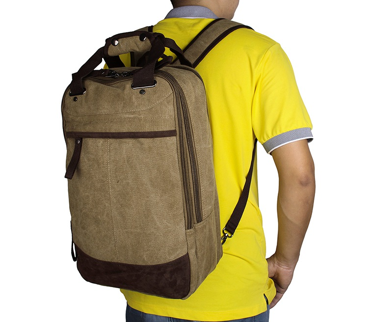 9028N JMD Brand Light Army Green Popular Top Quality Large Capacity Mens Canvas Backpack Laptop