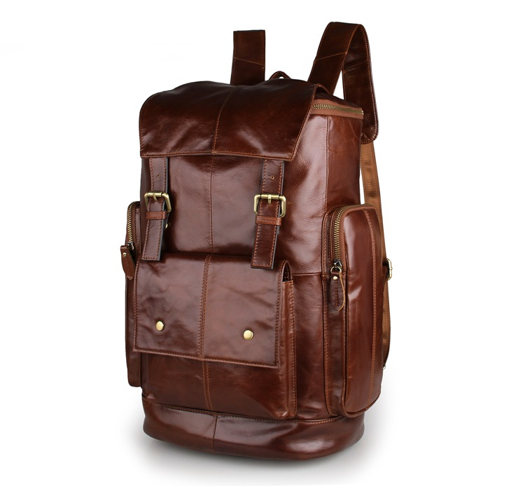 7311B 2016 New Products Vintage Cow Leather Fashionable Design Backpack Big Capacity