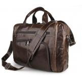 7310C  J.M.D Brand Hot Selling 2016 Vintage Genuine Cow Leather Coffee Business Handbag Men's Laptop