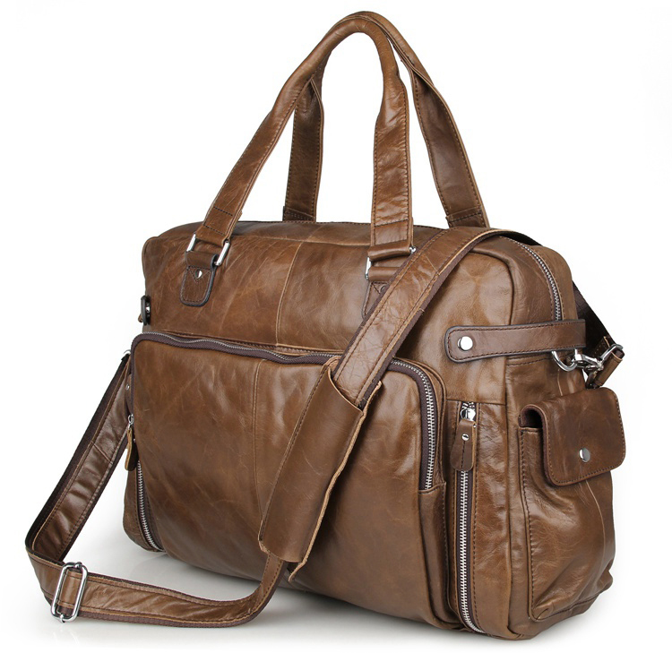 7288C Real Vintage Cow Leather Coffee Men's Handbag Laptop Bag Busiess Bag for Men