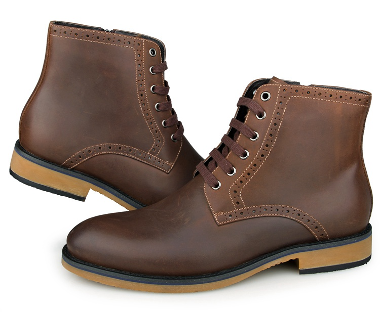 1001C8 New Arrival Cow Leather America 8 Size Brown Men Boots