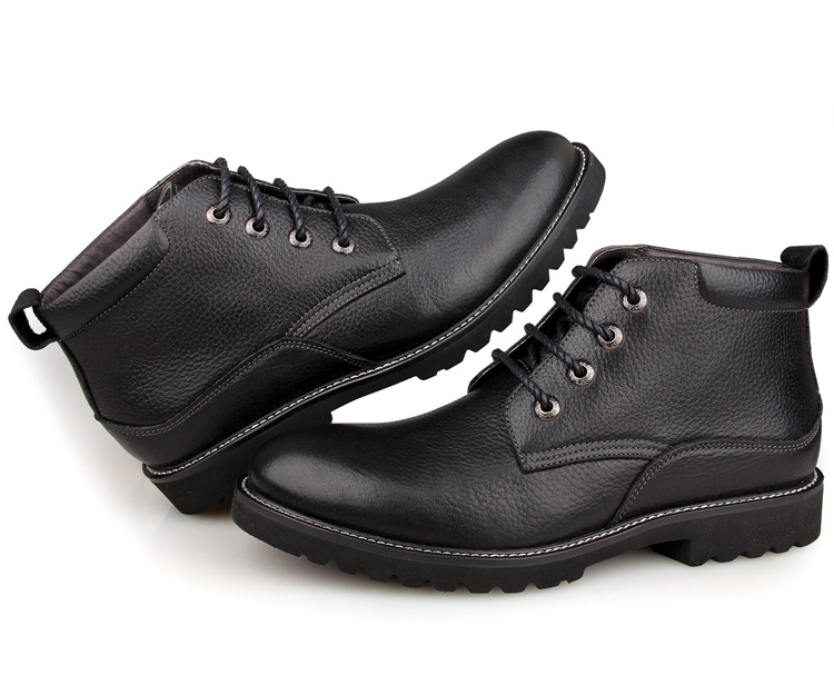 1002A7 Durable Cow Leather America 7 Size Men Leather Shoes