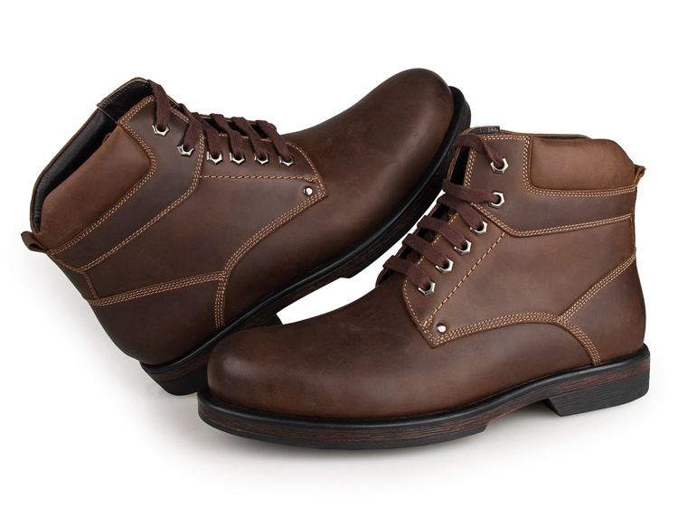 1003C8 JMD Brand Brown Hot Selling Comfortable Genuine Cow Leather America 8 Size Men Army Boots