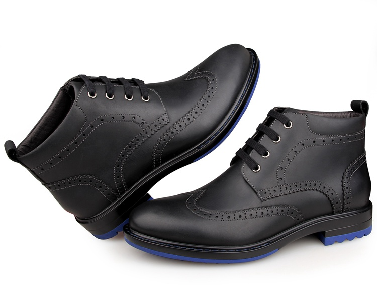 1004A8 Durable Cow Leather America 8 Size Men Leather Shoes