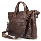 7120Q Vintage Leather Mens Dark Coffee Briefcase Laptop Bag Messenger Handbag Sales