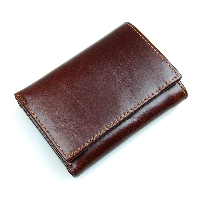 R-8105Q New Arrival Coffee Men's Cow Leather RFID Money Holder