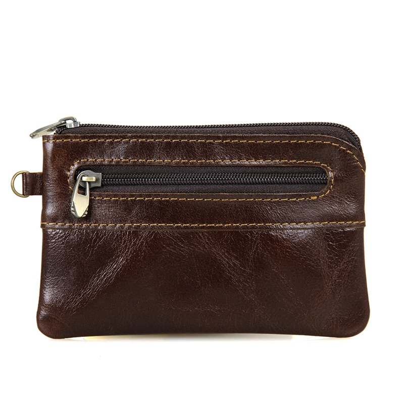 8118Q Coffee Cowhide Small Change Pocket