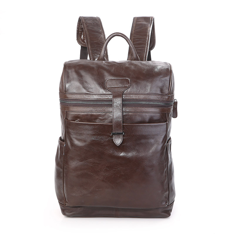 7342Q JMD Brand 2016 New Arrival Genuine Cow Leather Mens Leather Backpack Laptop Travel Rucksack