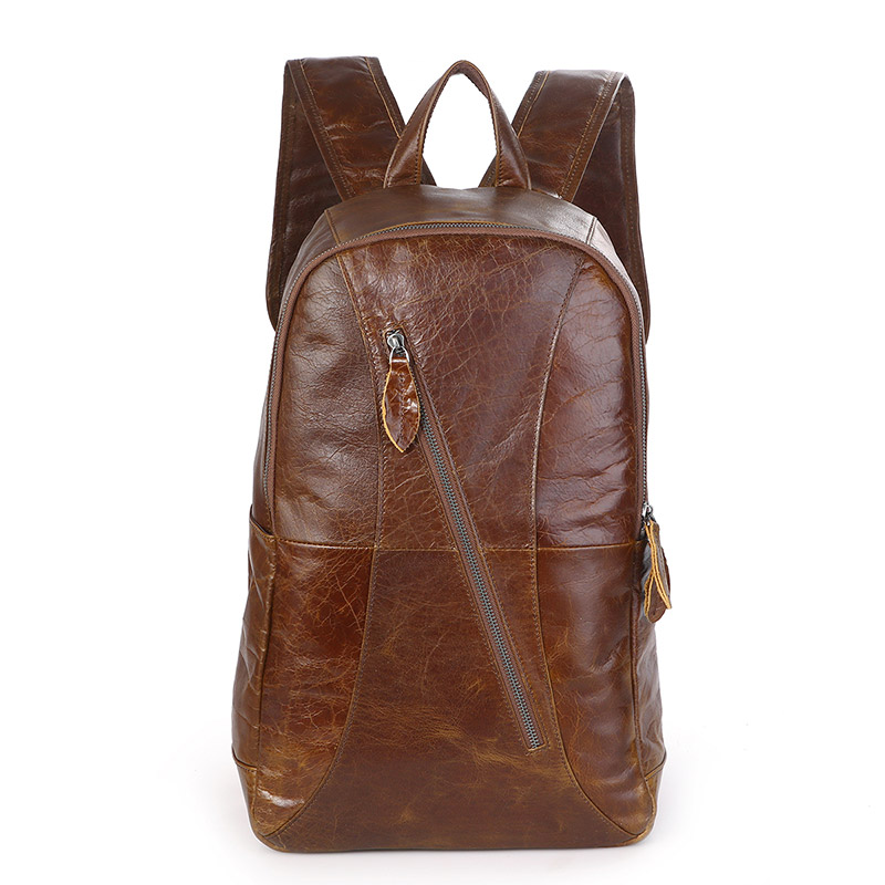 7350B 2016 New Arrival JMD Brand Genuine Cow Leather Mens Leather Laptop School Backpack