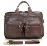 7231Q Hot Selling Brown Genuine Vintage Leather Men's Backpack Laptop Bag