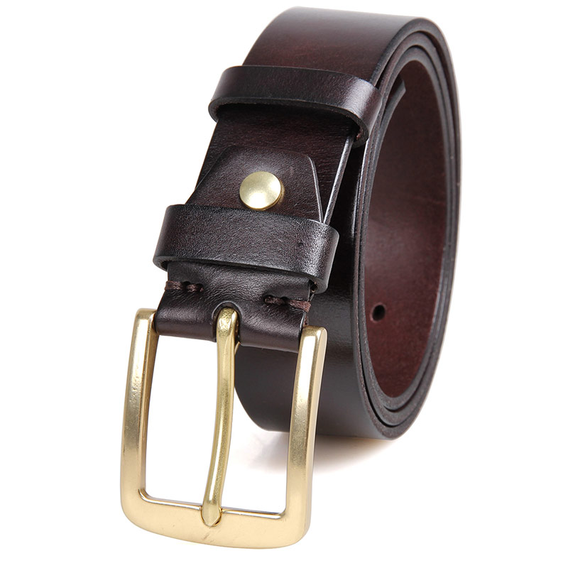 B003Q Chocolate Durable Vegetable Leather Men Fashion Belt