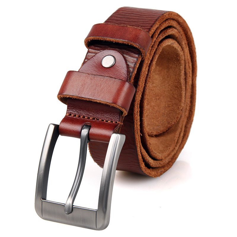 B005B Brown Fashion Durable Vegetable Leather Belt
