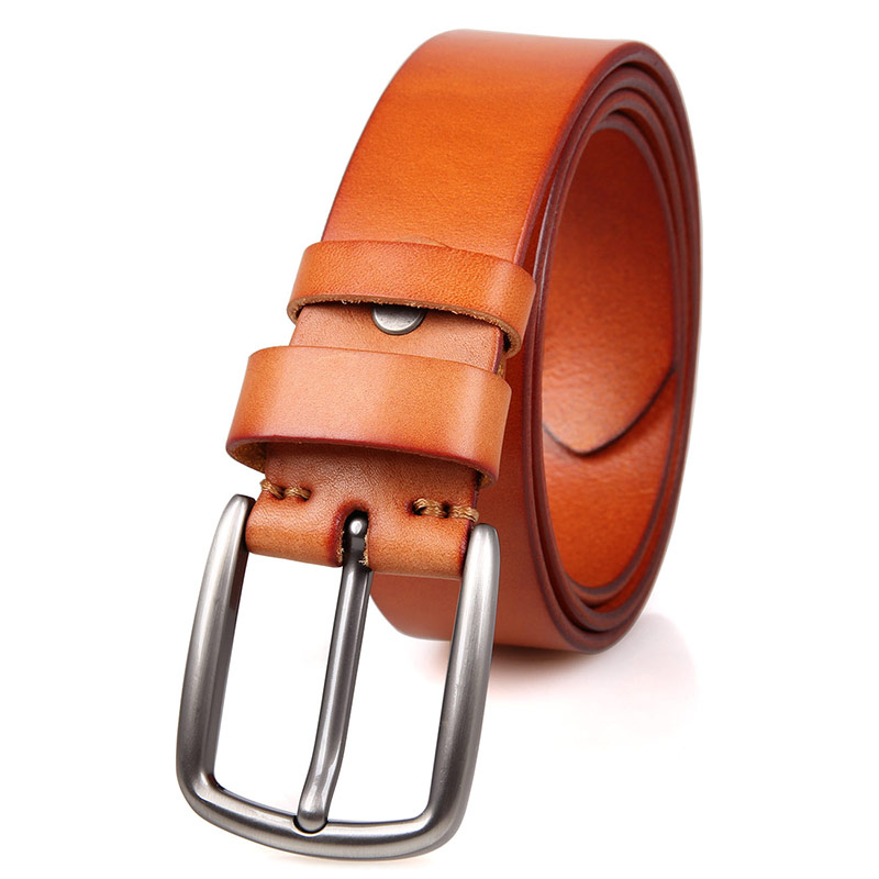 B006B Brown Fashion Durable Vegetable Leather Handmade Belt