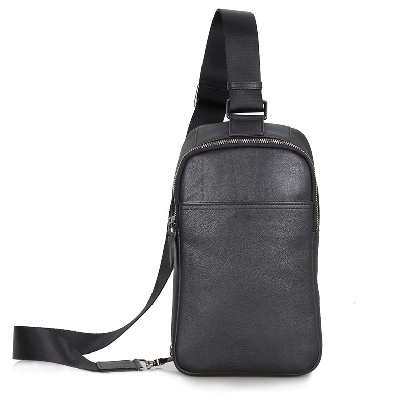 4001A Wholesale Black Genuine Leather Men Funny Pack