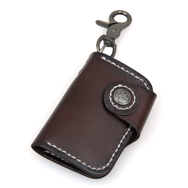 8131Q Chocolate Hot Selling New Products Vegetable Leather Car Key Bag Manufacturer