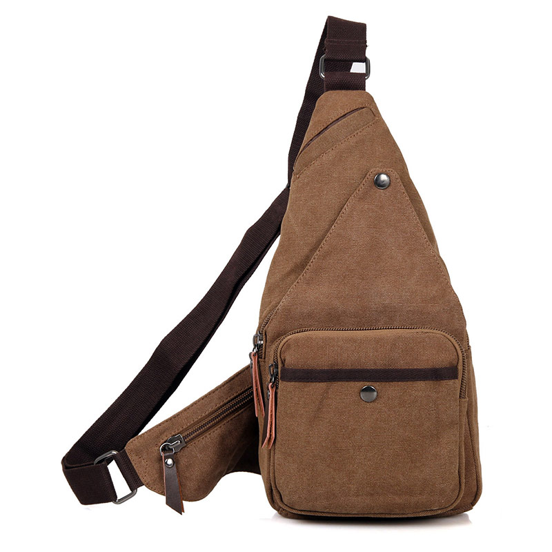 9033C Coffee Durable Canvas New Design Mens Funny Pack