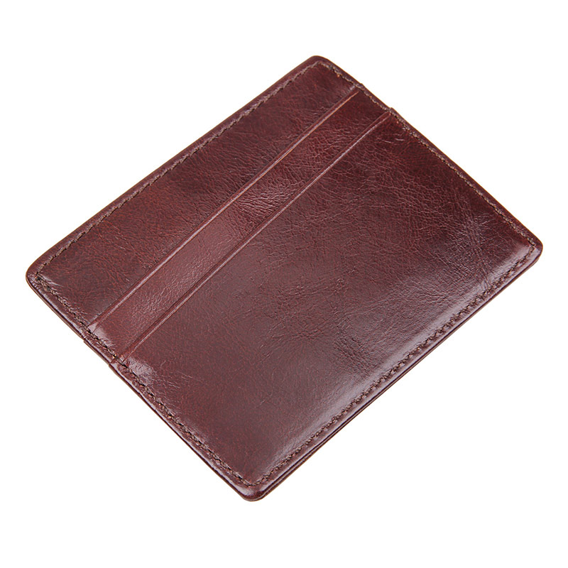 R-8101Q 100% Cowhide Leather Mens Card Holder Money Holder
