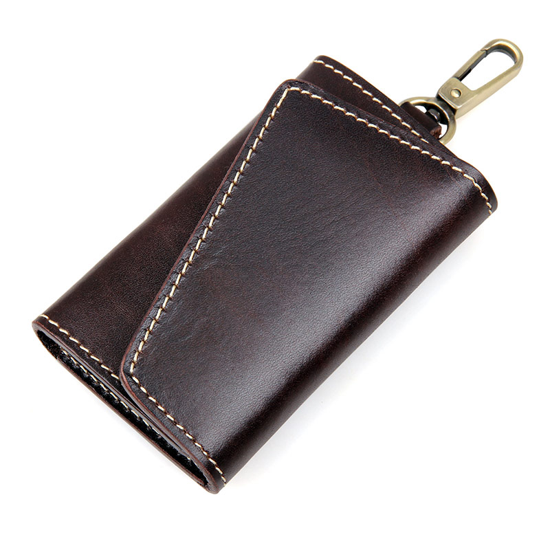 8132Q-1 Chocolate JMD Brand New Products Genuine Leather Key Bags Men