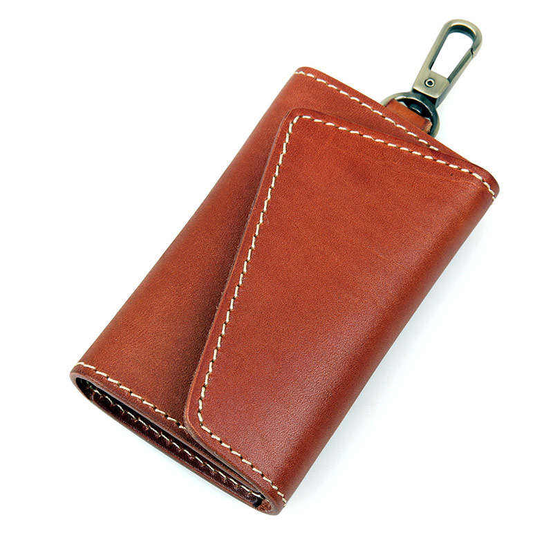 8132X-1 Brown Red JMD Brand New Products Genuine Leather Key Bags Holder Men