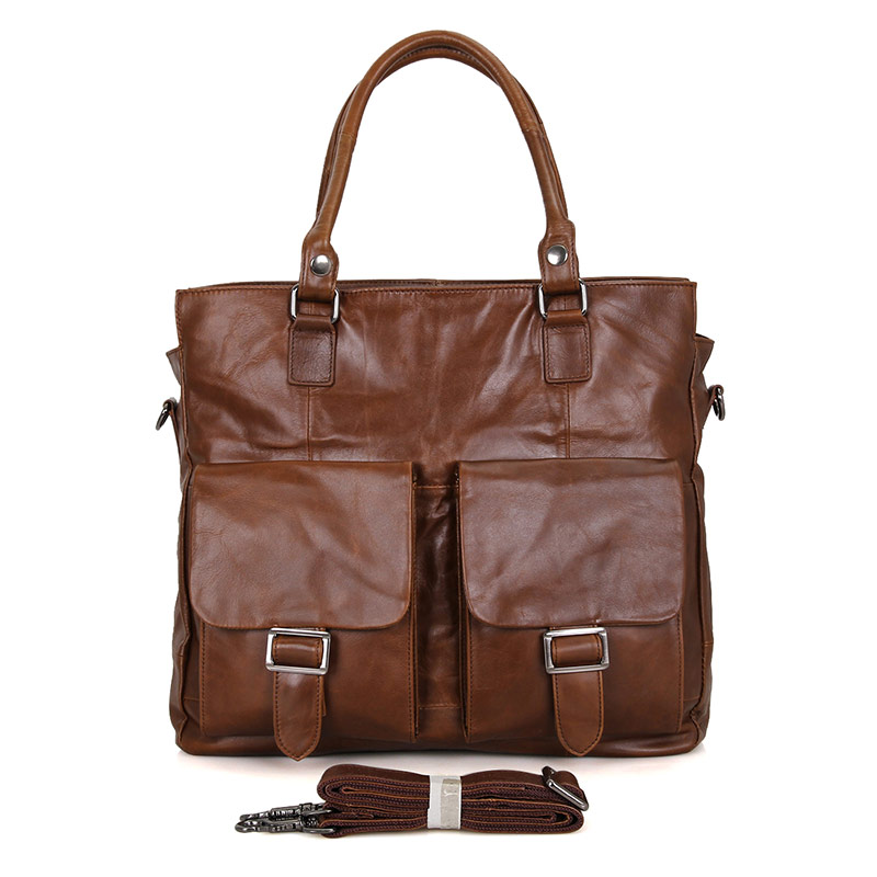 7242B J.M.D Brand Genuine Vintage Leather Unisex Briefcase Business Messenger Bag Handbag Laptop Bag