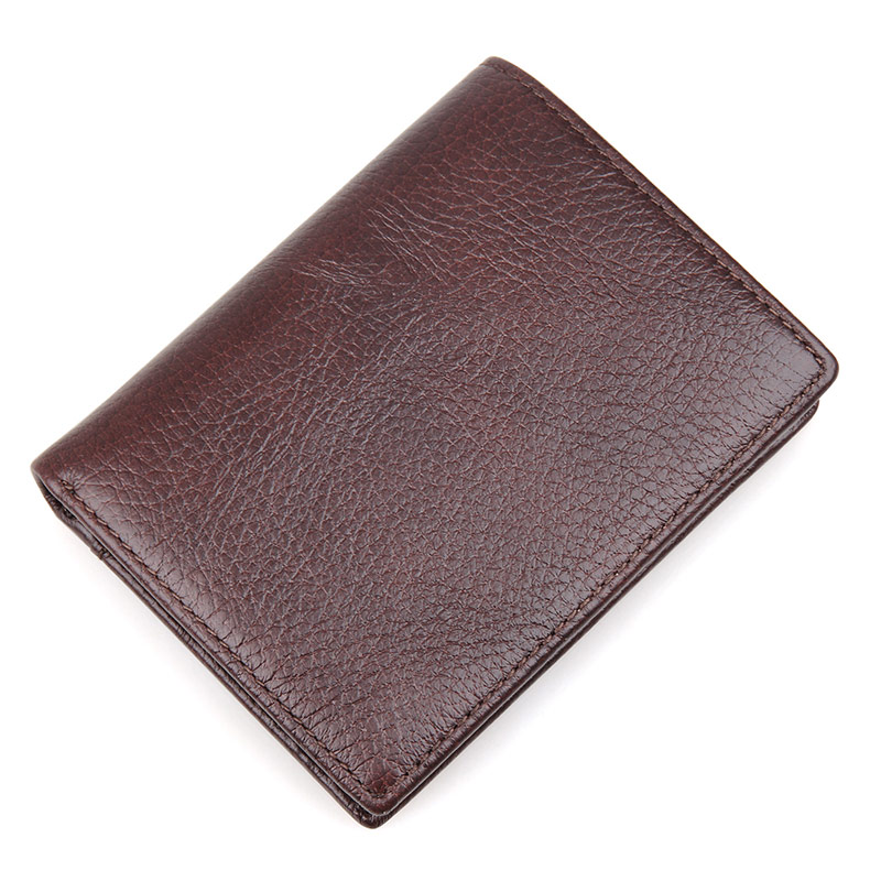 R-8142-2C Great Cowhide Real Leather Men's Purse RFID Wallet